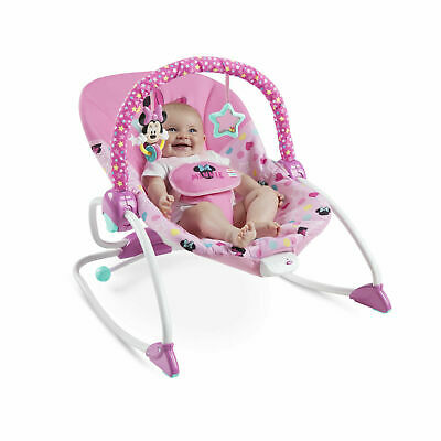 ~NEW~ Disney Baby Minnie Mouse Stars Smiles Infant To Toddler Rocker