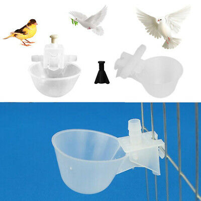 Feed Automatic Bird Coop Poultry Chicken Bowl Drinker Water Drinking Cups