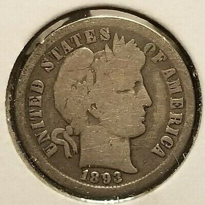 1893-O Barber Dime In Solid Good Condition