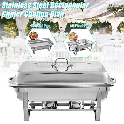 Catering Classic Stainless Steel Chafer Chafing Dish Food Tray Buffet Full Set