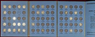 27 pc Set of 1892-1916 Barber Dime Album Collection - Silver 10c