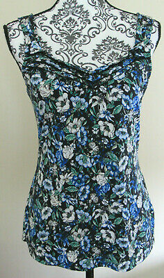 WHITE HOUSE BLACK MARKET multicolor floral sleeveless pullover top, Size M