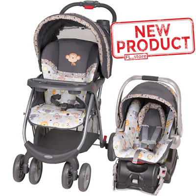 Baby Stroller & Car Seat Combo Outdoor Travel System Infant Comfort Seat Safety