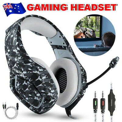 ONIKUMA K1 Gaming Headset 3.5mm MIC Headphones for PC Laptop PS4 Xbox One AU