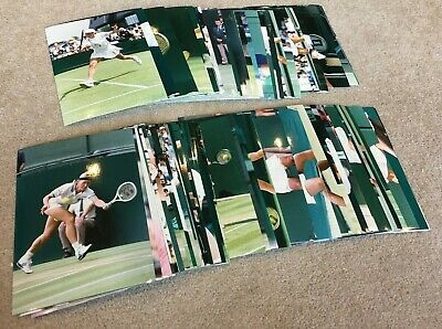 68 Early 1990's 17cm by 12cm Colour Press Photographs of Female Tennis stars