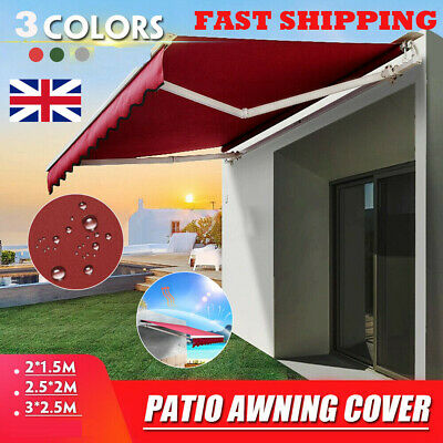 New Retractable Manual Awning Canopy Outdoor Patio Garden Sun Shade Shelter