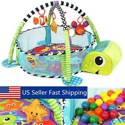 Infant Baby Activity Gym Playmat Carpet Floor Rug Mat Toddler Kid Play Toy  US