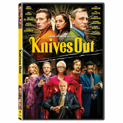 Knives Out dvd 2020 DVD Brand New & Sealed USA Authentic FREE SHIPPING
