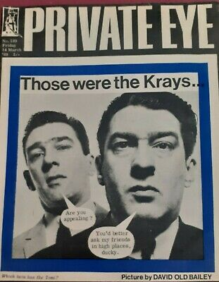 Private Eye Magazine. No 189. March 1969. Kray Twins On Front Cover.
