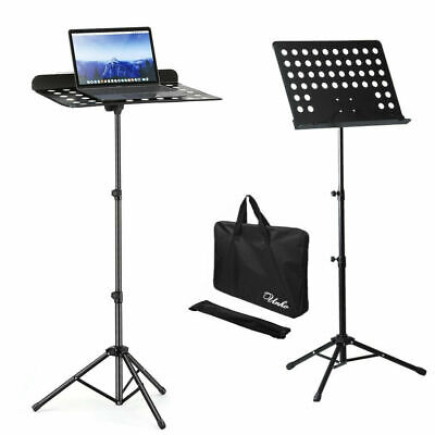 Heavy Duty Sheet Music Stand Adjustable Tripod Orchestral Sheet Holder with Bags