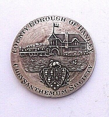 Borough of Hanley Chrysanthemum Society 1899 Silver Medal/Medallion VF+