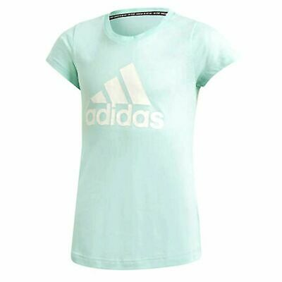 Adidas Must Have Badge Of Sport Tee Girls Junior T-Shirt Mint DV0327