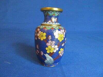"Cloisonne Mini Vase 4"" Blue                         1568"