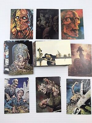 Vintage Bernie Wrightson Horror Art Collection Card Lot Of 60