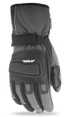Fly Racing Mens Xplore Gloves Waterproof Insulated Snowmobile Gray/Black XXS