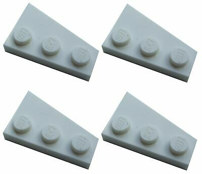 4 x Lego Angle Bend Plate 4x1 Smooth Piece Parts Base Small Long DARK GREY
