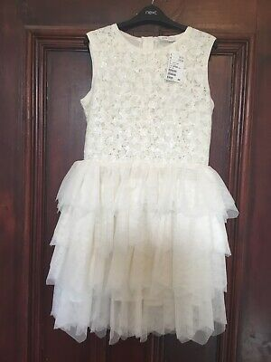 Girls H&M Cream Lace Bodice Fully Lined Party Dress Age 13-14 Yrs BNWT