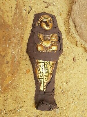 Rare Antique Ancient Egyptian Ushabti Servant minions Water Gold1720-1640 BC