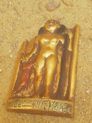 Rare Antique Ancient Egyptian Stela Magic Priest Women hunting Deer1730-1650BC