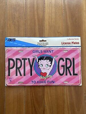 Betty Boop Novelty License Plate Party Girl Girls Want To Have Fun Collector