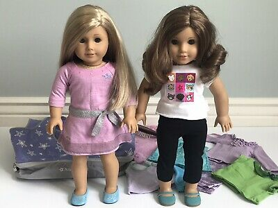 American Girl Lot Dolls Clothes Accessories Truly Me Rebecca