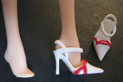 Barbie Doll HOLIDAY Black Label Model Muse White/RED POINTY Toe Pump Shoes Heels