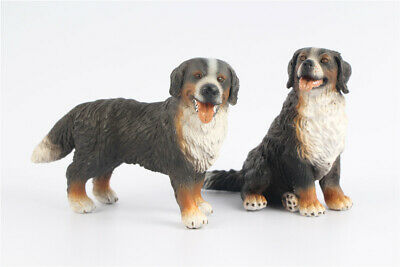 2pcs Schleich Bernese Mountain Dog Group loose figure