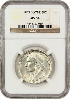 1935 Boone 50c NGC MS64 - Low Mintage Issue - Silver Classic Commemorative