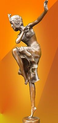 ART DECO BRONZE STATUE HINDU DANCER SIGNED Chiparus FIGURE HOT CAST FIGURINE