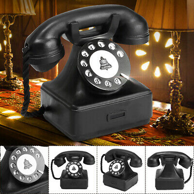 Vintage Style Rotary Telephone Desk Antique Old Phone Figurine Model Decor 1940