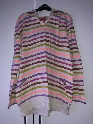 Next Children's Girls Pink Striped Hoodie Age 14 Years