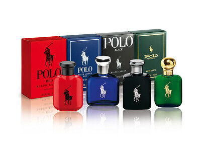 Ralph Lauren Men's Miniature Gift Set Polo Red Blue Black 5 x 15ml EDT For Him