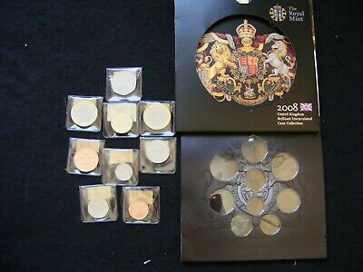 2008 UK Coin Set (coins stored in wallets) as pics FreePost R015