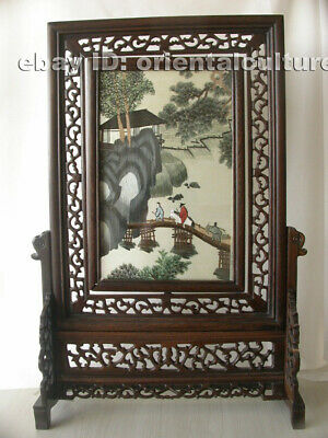 Chinese 100%hand embroidered suzhou double sided embroidery: mountain landscape