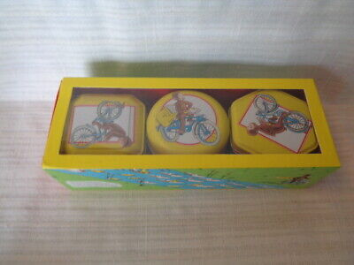 Curious George - 3 Tins With Candles - Unburnt