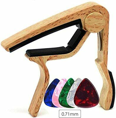 WINGO Guitar Capo Quick Change for 6-String Acoustic Electric Steel Guitars wit