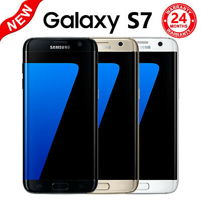 NEW UNLOCKED Samsung Galaxy S7 Android Smartphone 32GB BLACK G930A AT&T