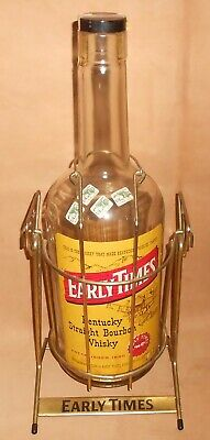 Early Times Kentucky Bourbon Whiskey 1 Gallon Bottle in Cradle Swing Metal Stand