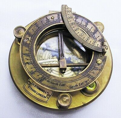 Compass In A Brass Nautical Instrument