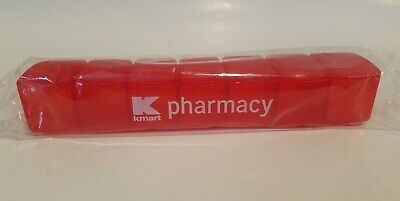 New KMART pharmacy Red Pill 7 Day Pill Box