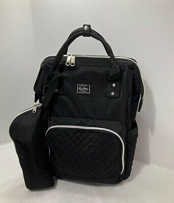 Multi-Function Diaper bag-Black-Insulated Pockets-Large Capacity-Waterproof