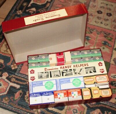 Rare Advertising Vintage Dennison Office Supplies Store Complete Display Box