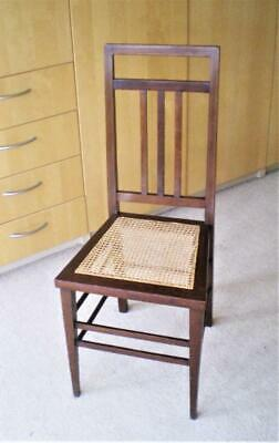 Antique>Late>Edwardian>Occasional>Chair>Mahogany & Caned