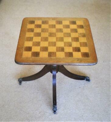 VINTAGE>REGENCY STYLE>CHESS TABLE with MODERN>ARMADA>CHESS PIECES