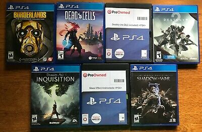 PS4 Game Bundle: (7-8 games) Preowned (VERY GOOD CONDITION) FREE SHIPPING