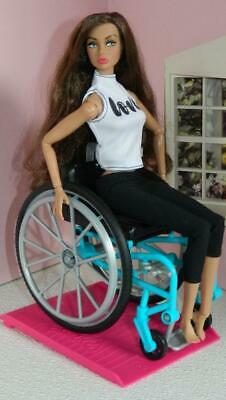 """Barbie Wheelchair~2019~NO DOLL~For 9-12"""" Dolls"""