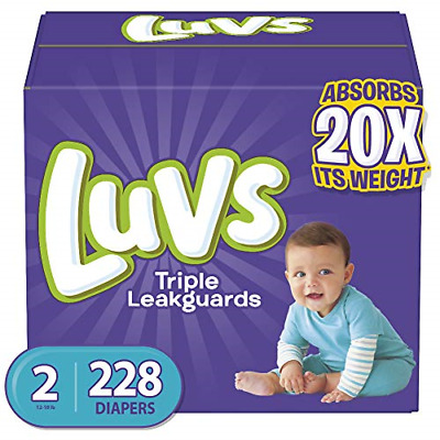 Diapers Size 2, 228 Count - Luvs Ultra Leakguards Disposable Baby Diapers, ONE