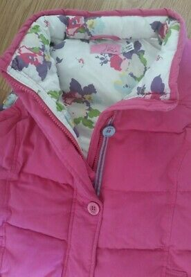 **Girls JOULES Padded Bodywarmer/Gilet**Pink**Age 11-12 Years**