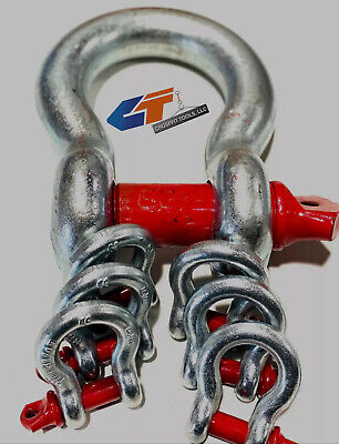 """🔥3/8"""" to 2"""" Shackle Screw Pin Anchor Clevis Bow Lifting Pulling"""