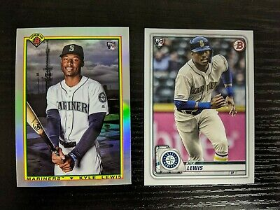 2020 Bowman 1990 Retro Kyle Lewis Insert 90B-KL and Paper Base 78 RC